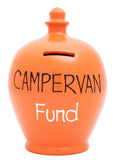 Terramundi Money Pot EXPRESS 'Campervan Fund' Orange with Black and White  - EXS178