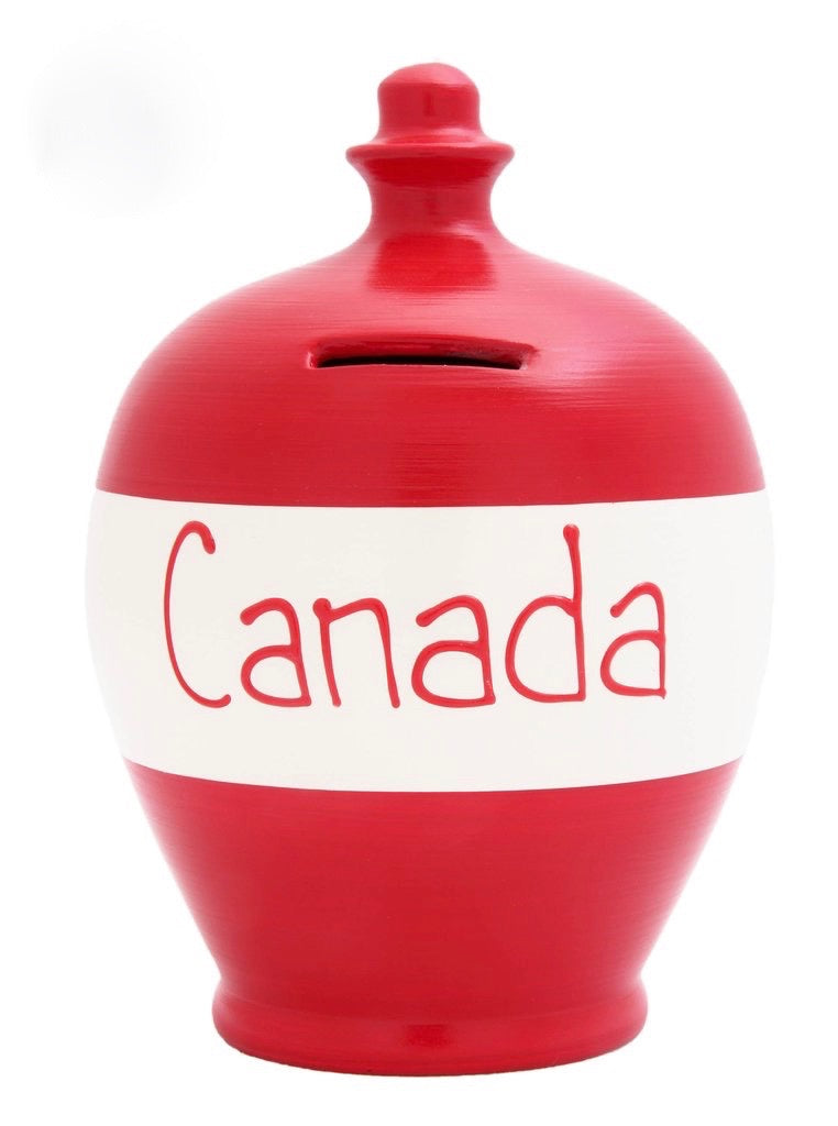 Terramundi Money Pot EXPRESS 'Canada' Red and White - EXS208