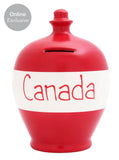 'Canada' Money Pot Red and White - S208