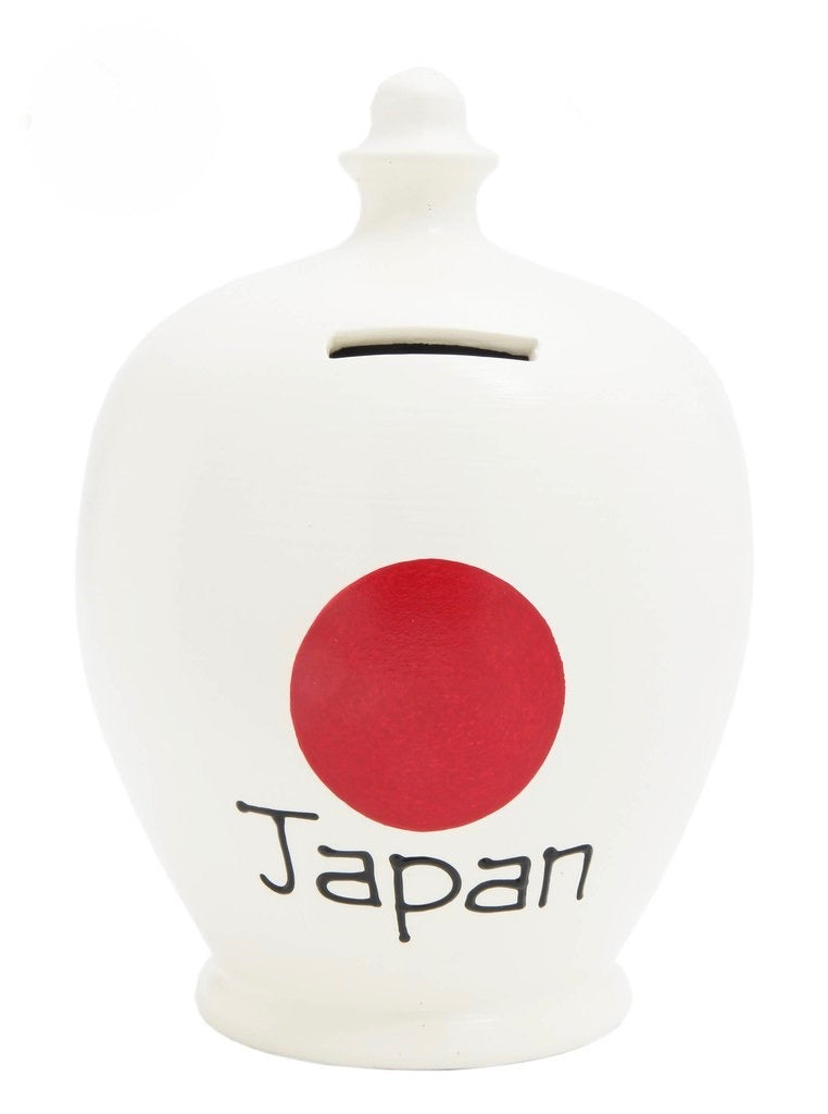 Terramundi Money Pot EXPRESS 'Japan' White and Red - EXS212