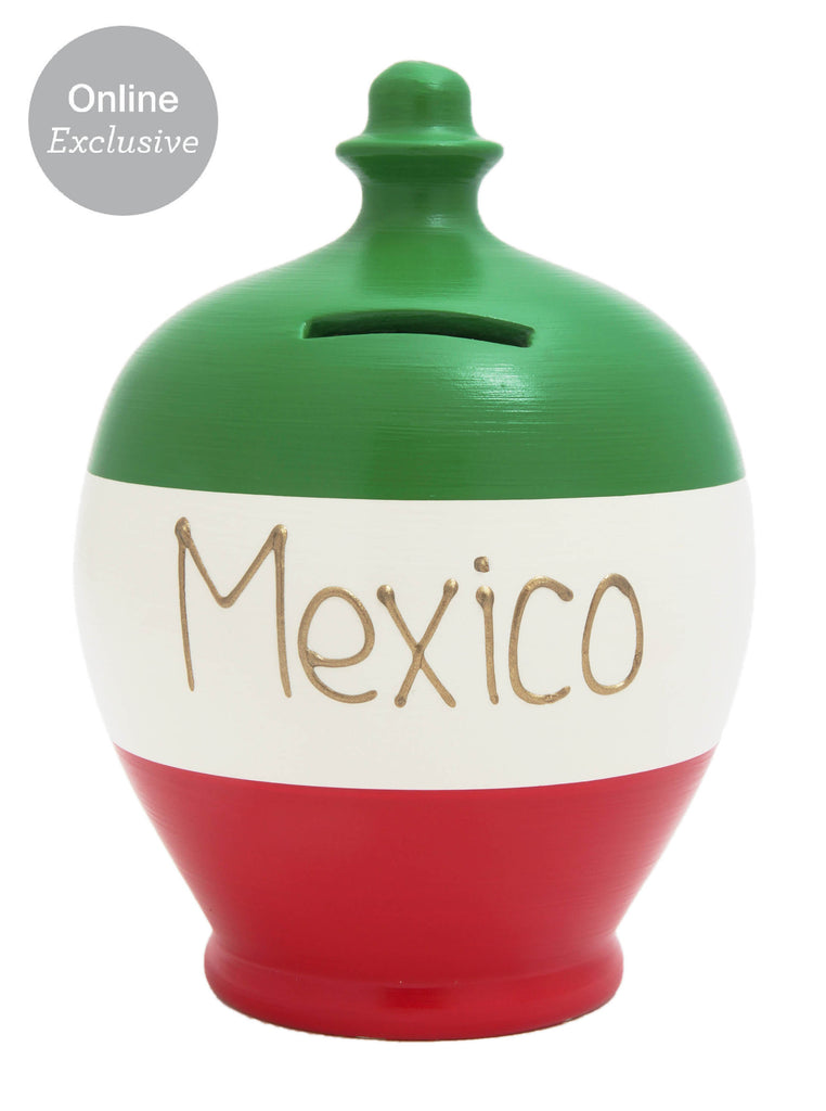 Terramundi Money Pot 'Mexico' in Green, White and Red - S213