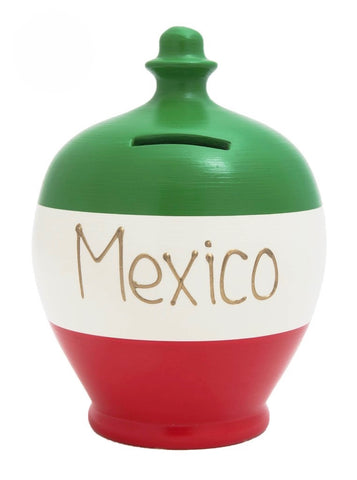 Terramundi Money Pot EXPRESS 'Mexico' Green White and Red - EXS213