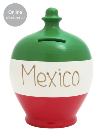 'Mexico' Money Pot in Green, White and Red - S213