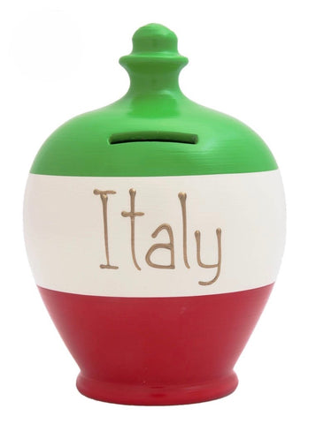 Terramundi Money Pot EXPRESS 'Italy' Green, White and Red - EXS216