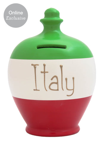 'Italy' Money Pot Green, White and Red - S216