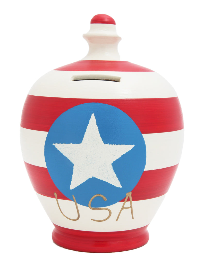 'USA' Money Pot Red, White and Blue - S217