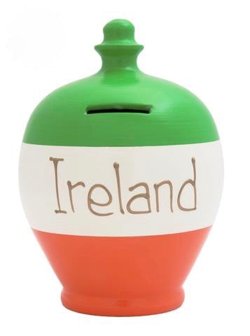 Terramundi Money Pot EXPRESS 'Ireland' Green, White and Orange - EXS218