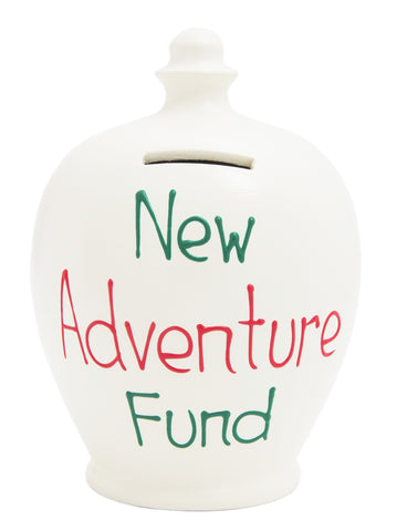 'New Adventure Fund' Money Pot White - S234