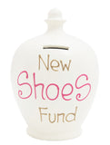 Terramundi Money Pot 'New Shoes Fund' White - S238