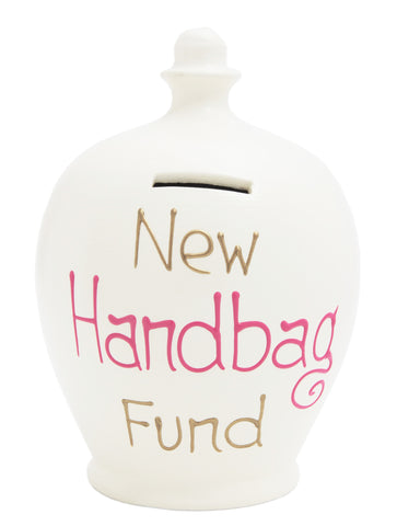 Terramundi Money Pot 'New Handbag Fund' White - S240