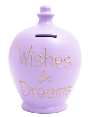 'Wishes and Dreams' Money Pot Lilac - S247