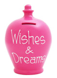Terramundi Money Pot 'Wishes and Dreams' Fuscia - S248