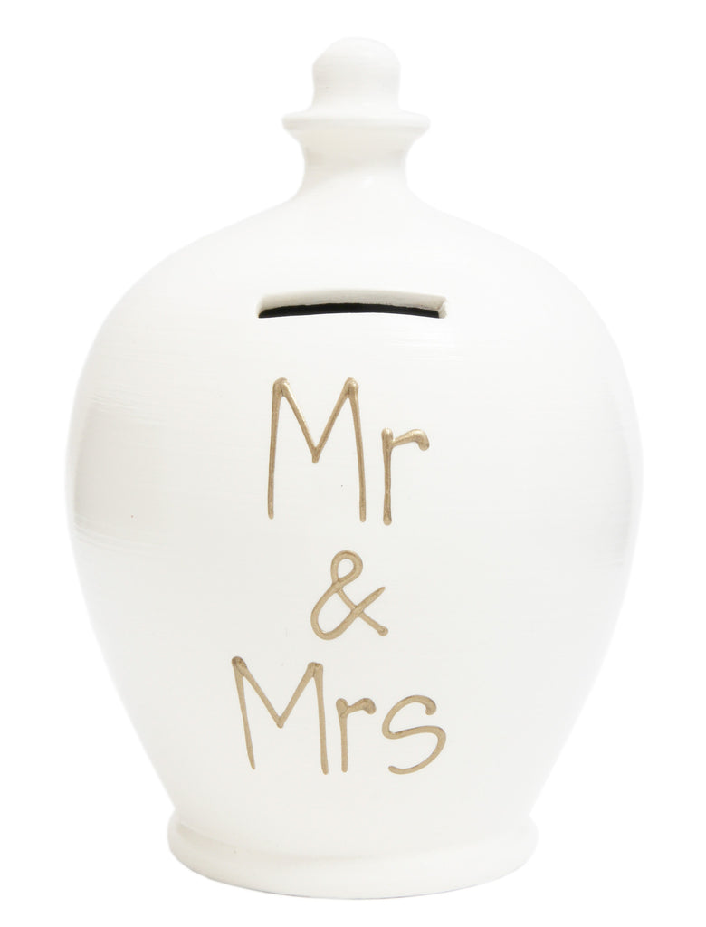 'Mr & Mrs' Money Pot White - S26