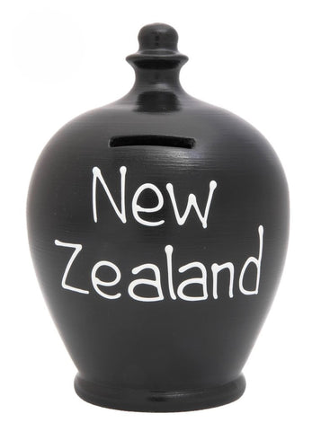 Terramundi Money Pot EXPRESS 'New Zealand' Black - EXS263