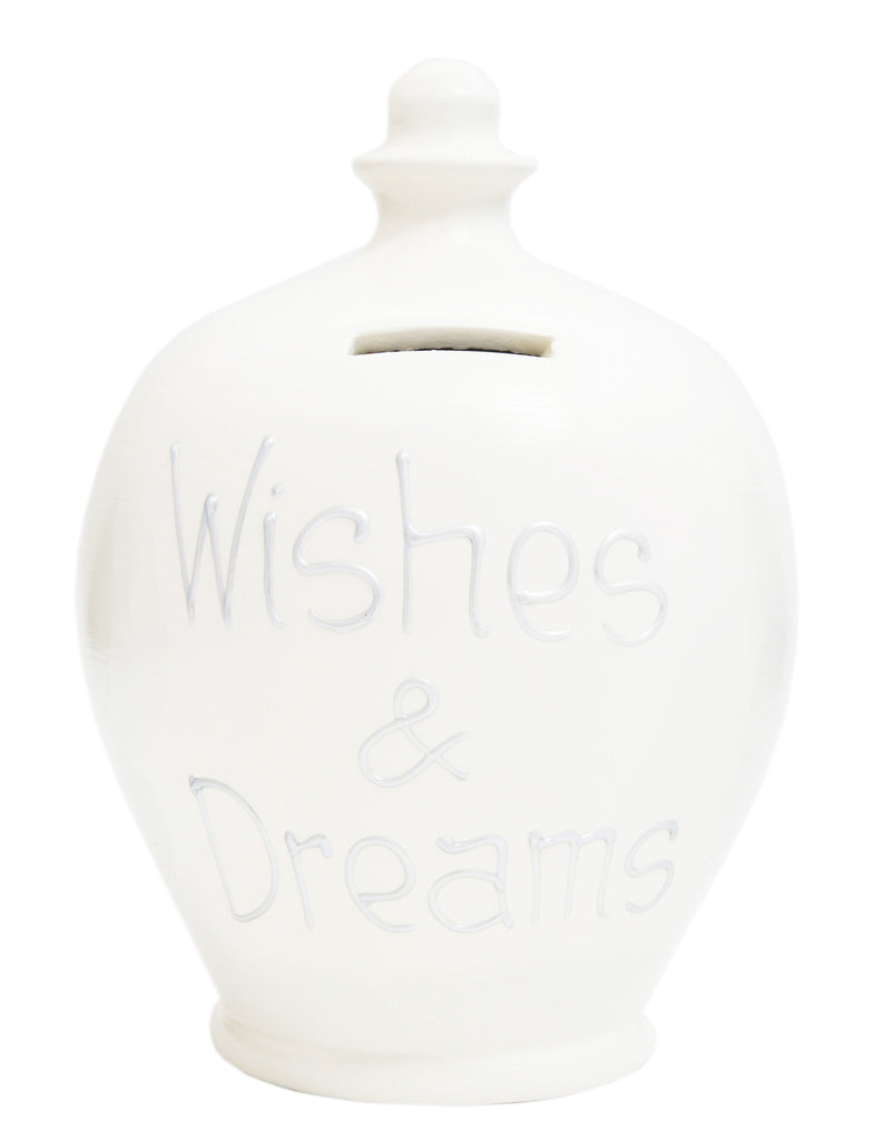 'Wishes & Dreams' Money Pot White - S27