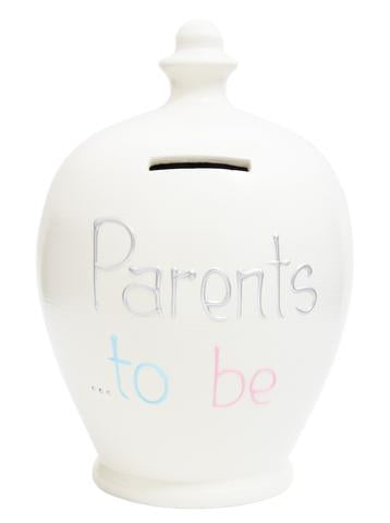 Terramundi Money Pot EXPRESS 'Parents To Be' White with Silver - EXS279
