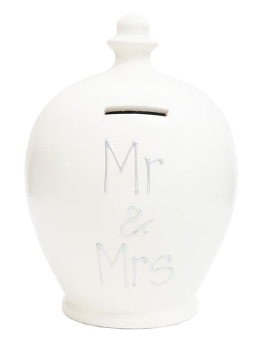 'Mr & Mrs' Money Pot White - S29