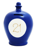 '21' Money Pot Electric Blue - S291