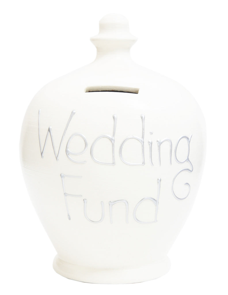 'Wedding Fund' Money Pot White - S31