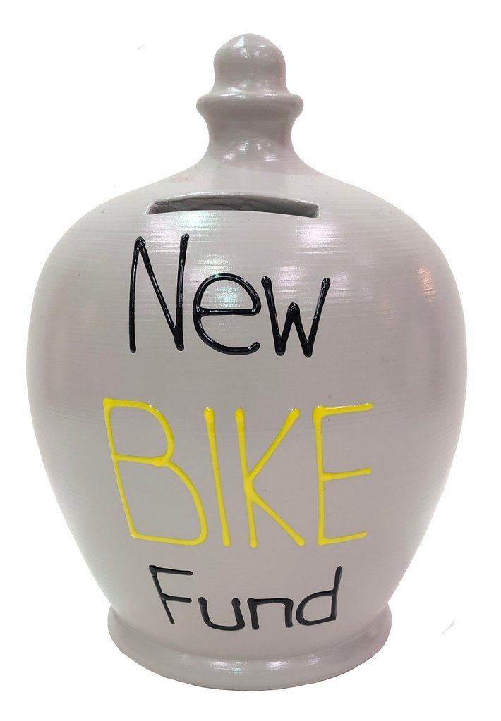 Terramundi Money Pot EXPRESS 'New Bike Fund' Grey - EXS319