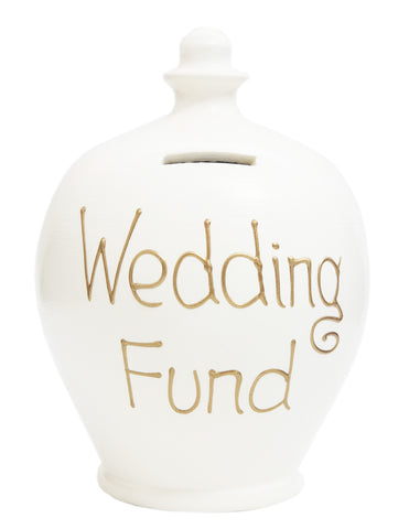 'Wedding Fund' Money Pot White - S34