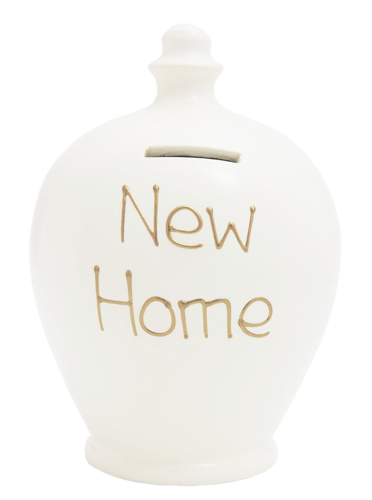 'New Home' Money Pot White - S36
