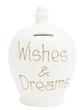 'Wishes & Dream' Money Pot White - S37