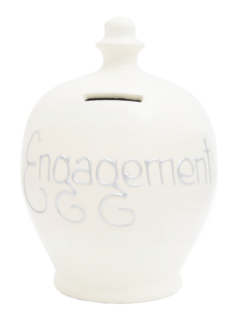 'Engagement' Money Pot White - S39