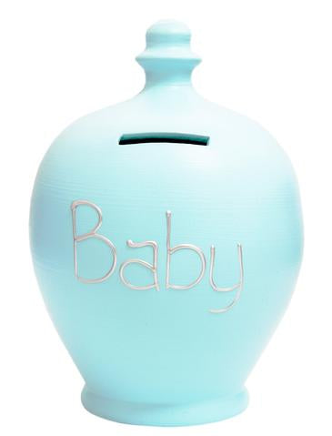 Terramundi Money Pot EXPRESS 'BABY' Blue with Silver - EXS47