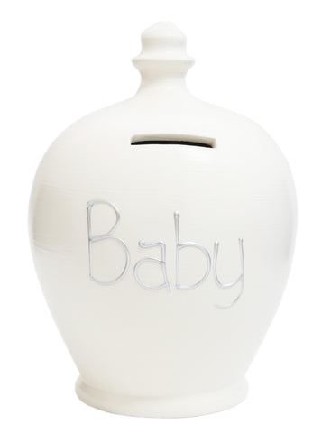 'Baby' Money Pot White - S48