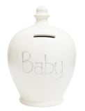 Terramundi Money Pot EXPRESS 'BABY' White with Silver - EXS48