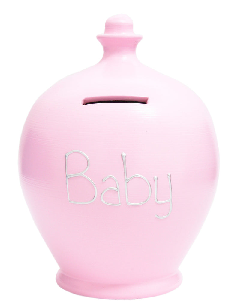 Terramundi Money Pot 'Baby' Pale Pink - S49
