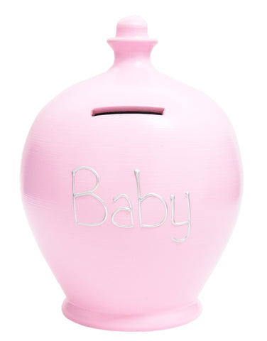 'Baby' Money Pot Pale Pink - S49