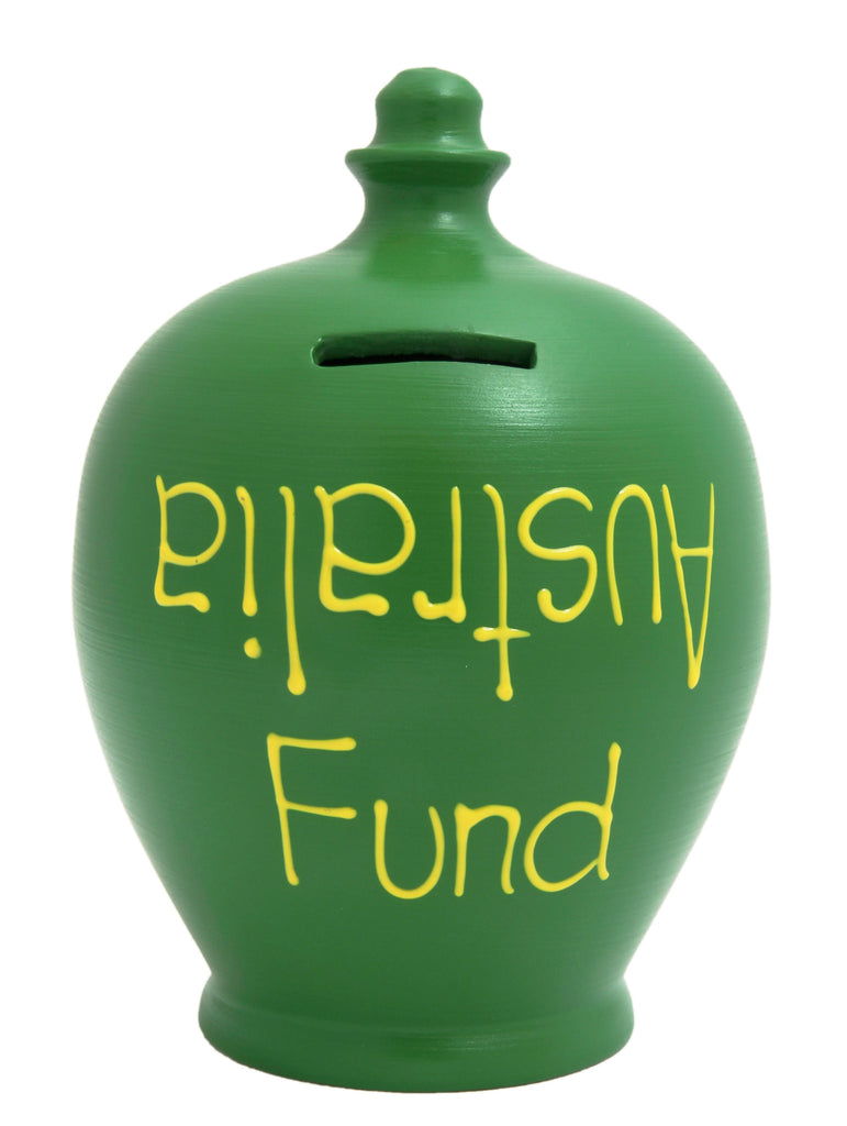 'Australia Fund' Money Pot Green - S53