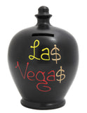 Terramundi Money Pot 'Las Vegas' Black - S55