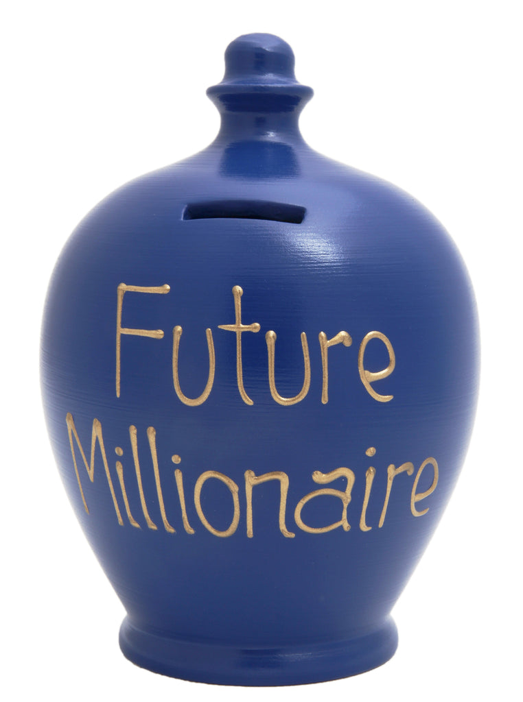 'Future Millionaire' Money Pot Electric Blue - S92