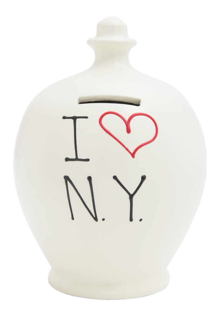 EXPRESS 'I Love NY' (New York) Money Pot White - EXS96