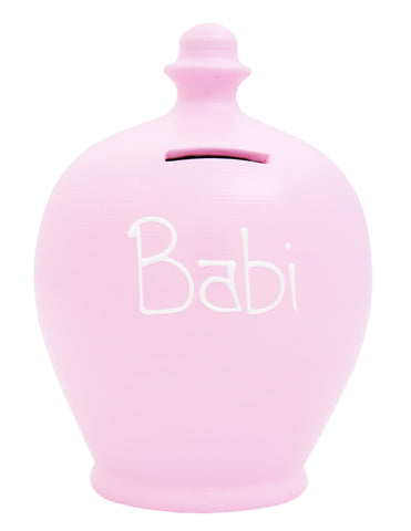 'Babi' Welsh Money Pot Pink - W2
