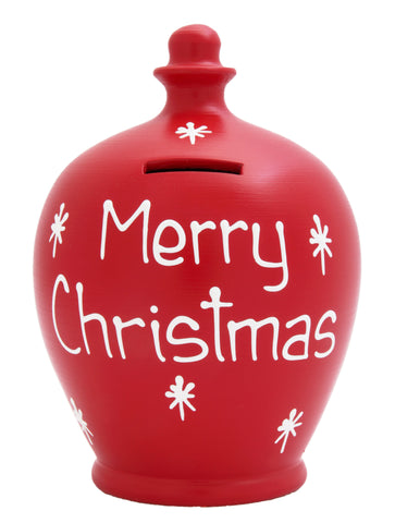 'Merry Christmas' Money Pot Red - X7