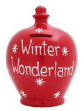 'Winter Wonderland' Money Pot Red - X9