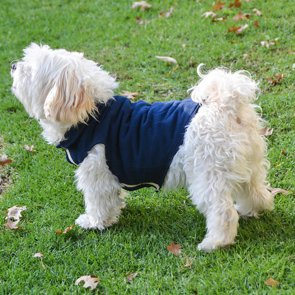 Cotton Fleece Jump Coat- Navy