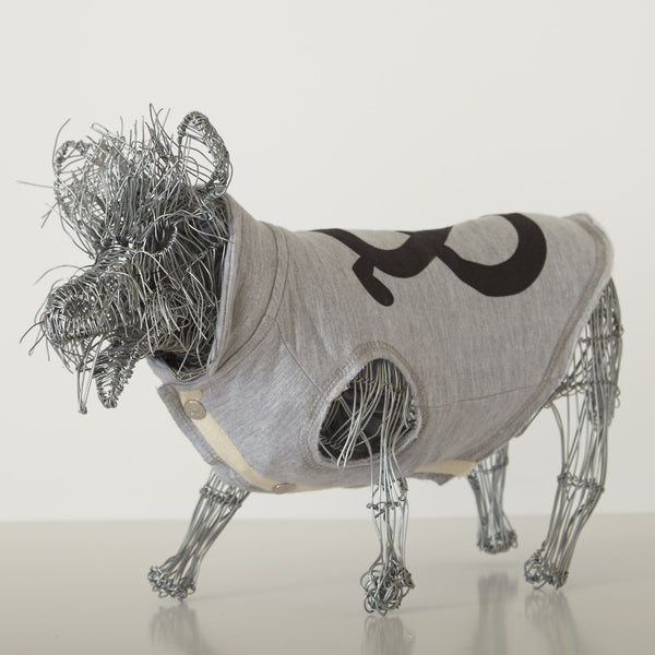 Cotton Fleece Jump Coat- Grey