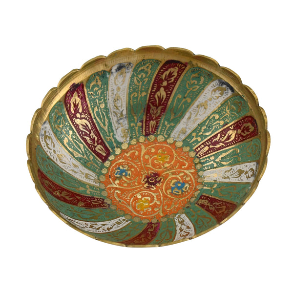 Trident EXIM Handmade Brass Bowl Home Decor , Painted & Engraved Decorations Of High Quality & Purity