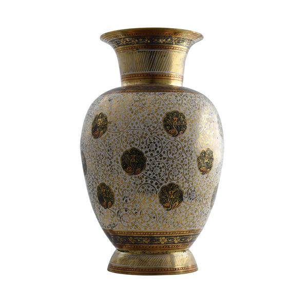 Trident EXIM Handmade Brass Home Decor Jars, Painted Engraved Decorations Of High Quality & Purity