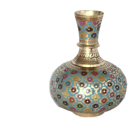 Trident EXIM Handmade Brass Home Decor Vase, Painted Engraved Decorations Of High Quality  & Purity.