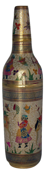 Trident EXIM Handmade  Home Decor Brass Wine Bottle Cover,Painted Engraved Decorations  Of High Quality & Purity.