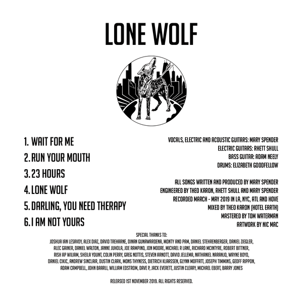 Lone Wolf EP (Signed CD by Mary Spender)