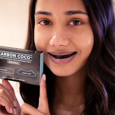 Coconut and Charcoal Teeth Whitening Strips