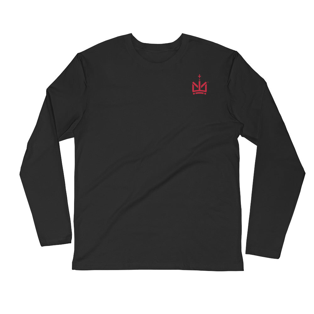 Malek M - Long Sleeve Premium Fitted Crew
