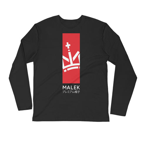 Malek Rising Sun Long Sleeve Fitted Crew